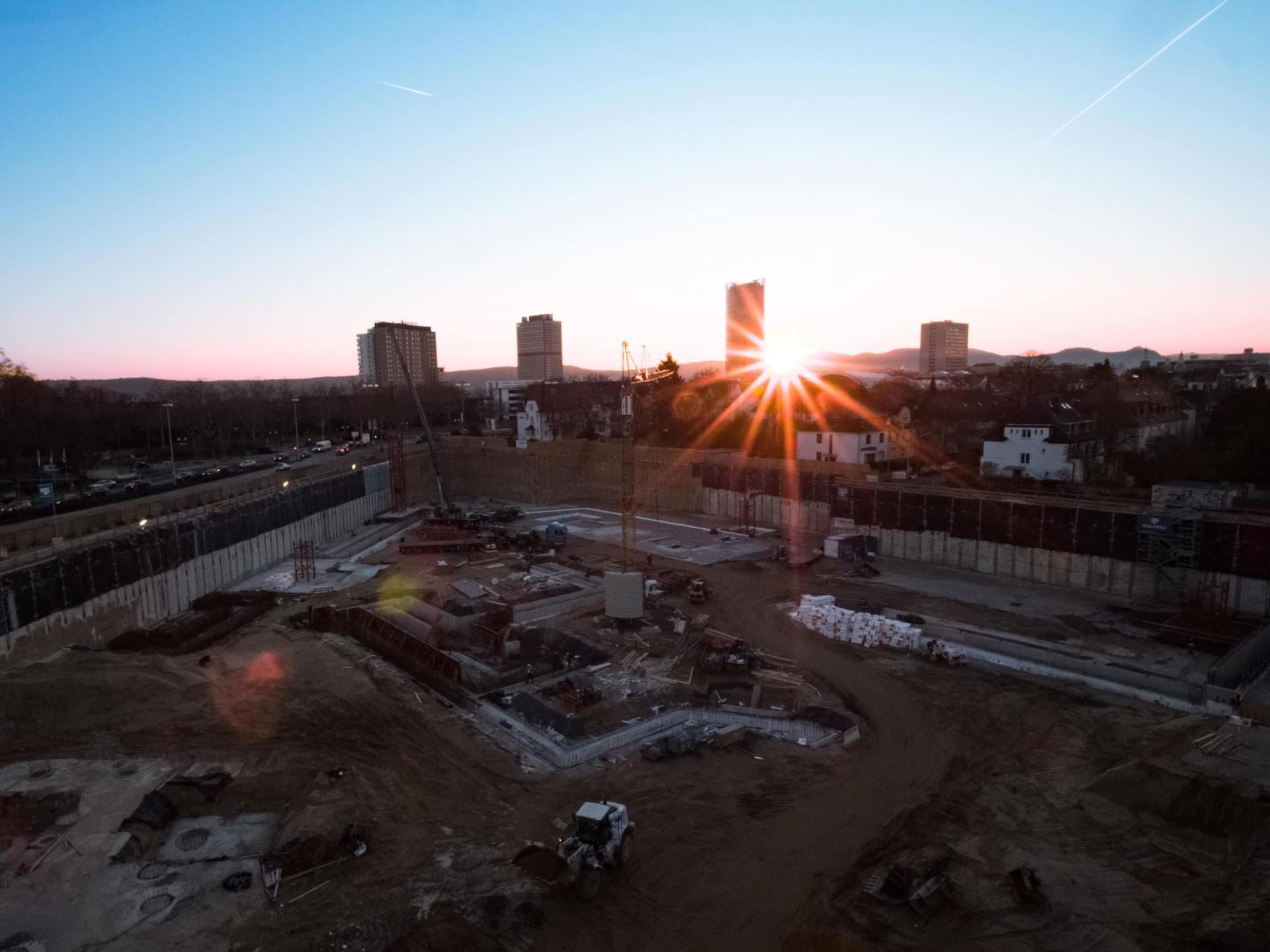 Baustelle Neuer Kanzlerplatz von oben