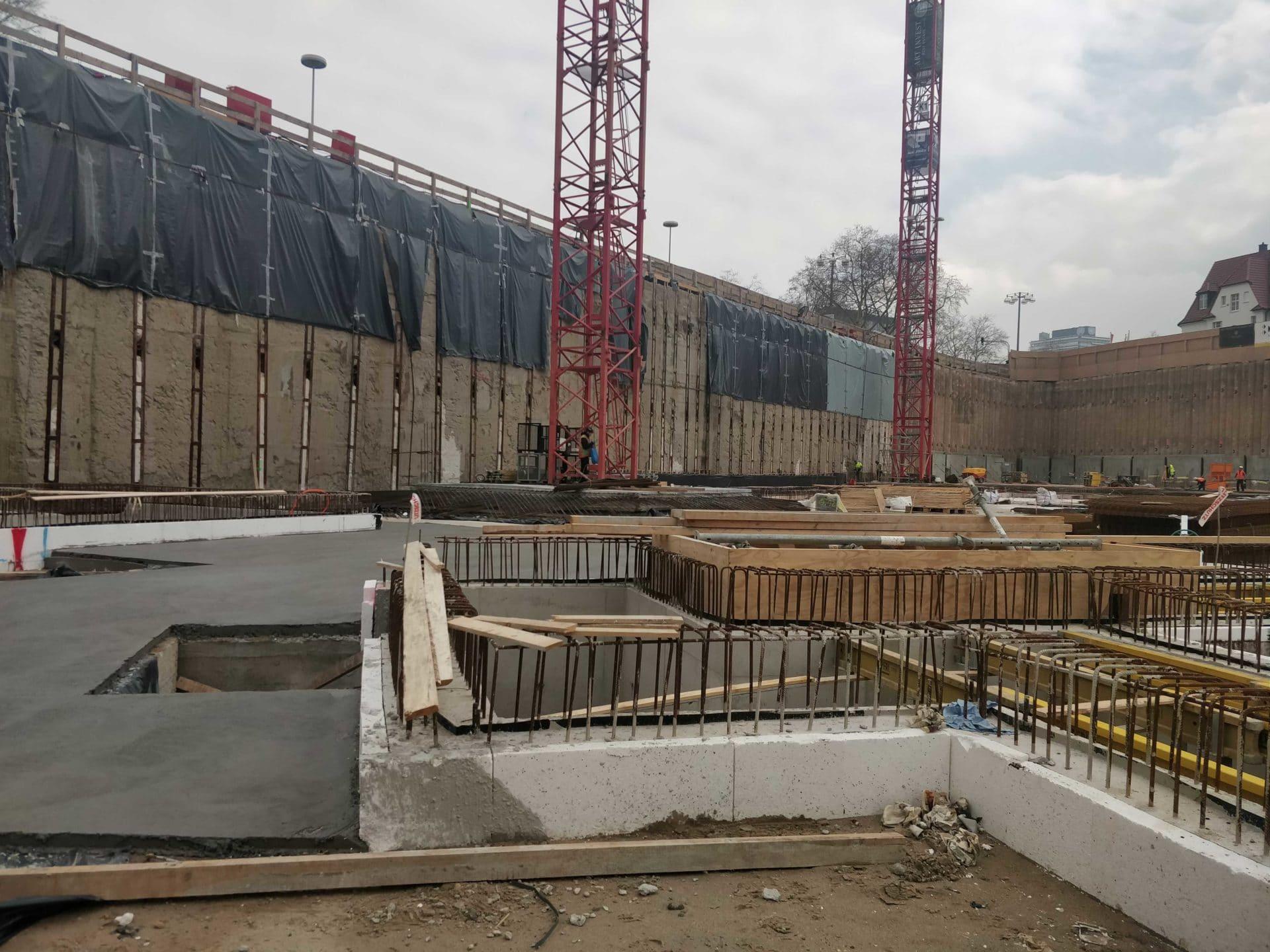 Bauarbeiten am Neuen Kanzlerplatz